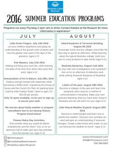 Kid's Summer Program