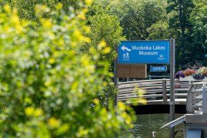 Muskoka Lakes Museum sign