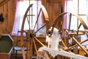 Spinning wheel at the Muskoka Lakes Museum