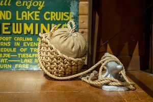 Vintage anchor at the Muskoka Lakes Museum