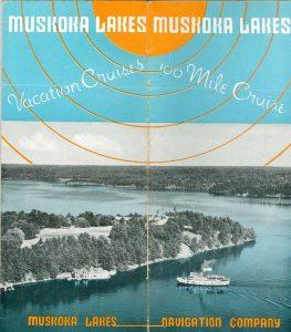 Muskoka Lakes Navigation Brochure from 1947