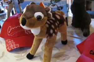 Wild Republic stuffies at the Muskoka Lakes Museum