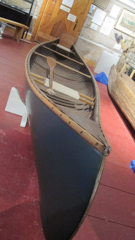 Mack Cunningham canoe on display in 2020